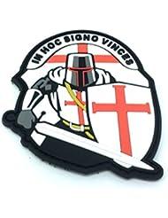 Crusader 'In Hoc Signo Vinces ' Knights Templar Airsoft PVC Moral Parche