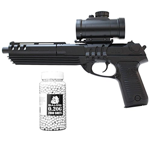 Softair Federdruck Pistole Desert Eagle Stil Airsoft Pistole, Unter 0.5 Joules, Double Eagle M39GL , GRATIS 2000 BULLDOG BBS 0.20G (Schwarz) (Double Eagle Softair)