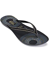 Zenwear Casual Slip On Slippers for Women, Black