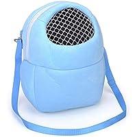 Ogquaton Bolsas de Transporte para Mascotas Simples, pequeñas y portátiles para Mascotas, Bolsos de Viaje adecuados para Rata hámster Conejo (Azul)