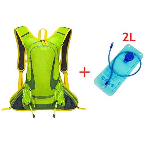 TJZY Zaino per Campeggio D'Escursione Esterno Di Viaggio 18L Casco da Bicicletta Bag Montare Sport Zaino Uomo Donna/Green B