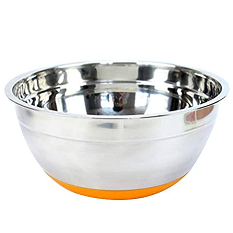 Zhhlaixing Premium Stainless Steel Mixing Bowl Deep Bowl with Non-Slip Silicone Base