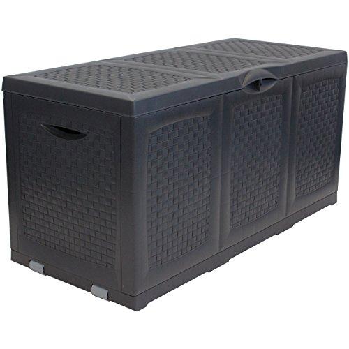 """Oxid7® Kunststoff Auflagenbox """"Hippo"""" - Maße (LxBxH): ca. 120x52x60cm - Abschließbar - mit Rollen - 380 Liter"""