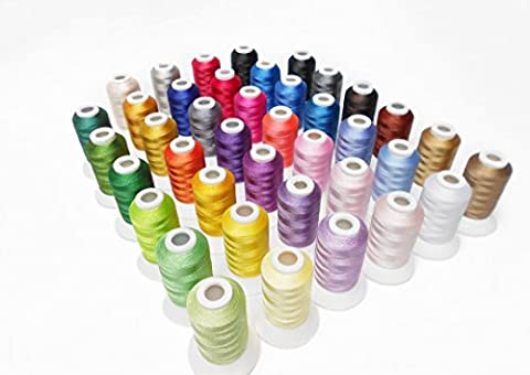 Simthread 40 Brother Colours Polyester Embroidery Machine Thread for Brother