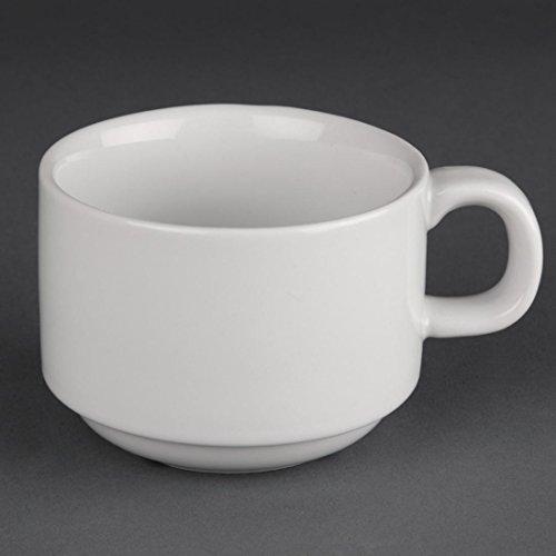 Athena pur cc200 empilable tasse, blanc (Lot de 24)