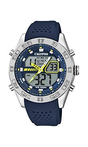 Calypso Watches Reloj Analógico-Digital para Hombre de Cuarzo con Correa en Plástico K5774/3