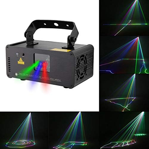 Disco Party Lights- ✌WTD! Disco Lampe 3D Effekt RGBYP Vollfarbe Party Beam Licht, Remote Linear Scheinwerfer, Sound Actived Automatische Disco KTV Bar Pub Haus Haus -424 (Farbe : RGB Beam) -