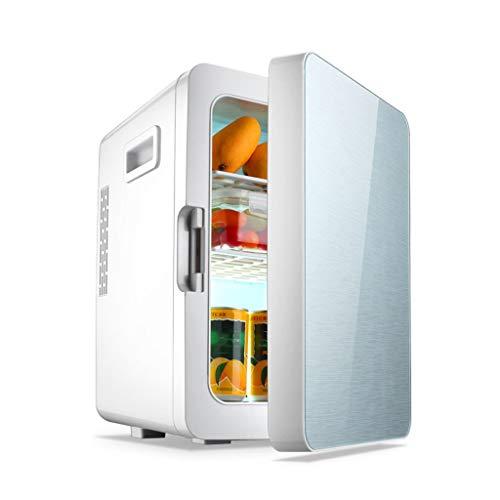 HDZWW Mini-Kühlschrankkühler und -wärmer (20 Liter) Kompakter Kühlschrank für 22x330ml-Dosen) [Energieklasse A +] Thermoelektrischer Speisen- und Getränkekühler Ideal für Büros AC + DC-Stromkompatibil