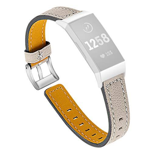 NEU! Uhrenarmband für Fitbit charge 3, Tensay Leder Smartwatch Zubehör Ersatz Armband Ersatzarmband Gurt Armbinde Armband für Fitbit charge 3