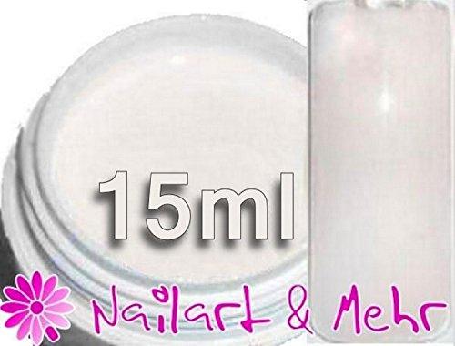 French de gel UV MPK ° Soft White ° : mittelviskoses, lumière blanche naturelle 15 ml French Gel UV