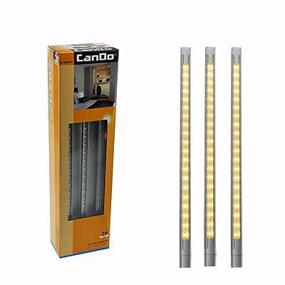 LED Alu Leiste 3-tlg. Set mit 60 LEDs Lichtleiste Strip Unterbauleuchte Ambiente von CanDo - Lampenhans.de