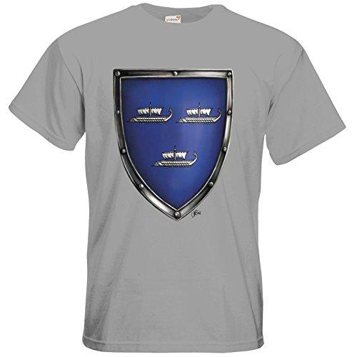 getshirts - Das Schwarze Auge - T-Shirt - Die Siebenwindküste - Wappen - Harben pacific grey