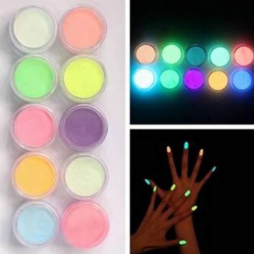 uder für Nägel und Glitzerpuder, leuchtend, Acryl, 10 Stück ()