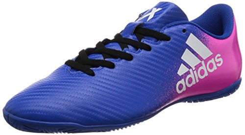 adidas X 16.4 In, Chaussures de Futsal Homme Multicolore (Blue/Ftwr White/Shock Pink)