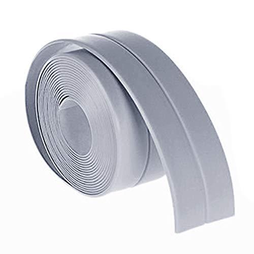 Jasnyfall 38mm * 3.2M wasserdichtes Home Küche Badezimmer Badewanne mit Wanddichtband Strips grau