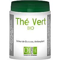 Thé Vert Bio - Qualité supérieure - 180 gélules, 450 mg - Antioxydant - Détox - Minceur : Brûleur de Graisses, Perte de Poids