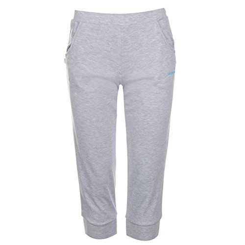 la-gear-womens-ladies-three-quarter-interlock-pants-trousers-bottoms-clothing-grey-marl-10-s
