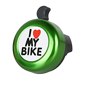 Bike Bells - ' I Like My Bike' Cycle Bell - Loud and Clear Cycle Bells and Horns - 7 Colours Mini Aluminum Bike Accessories for MTB BXM Bike, Mountain Bike, Road Bike, City Bike etc