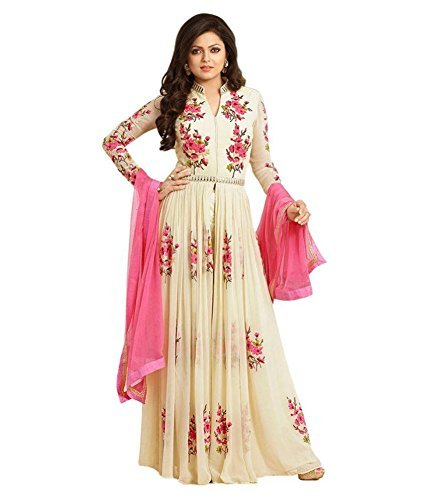 Attire Design Women\'s Latest Party Wear/Regular Wear Designer Embroidery Un Stitched Free Size Salwar Suit Dress Material Available