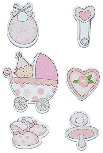 6 tlg Set Sticker Aufkleber aus Baby