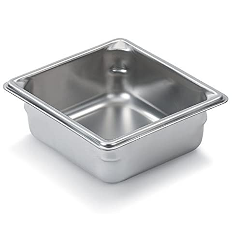 Vollrath 30622 Stainless Steel Super Pan V Steam Table Pan, 1/6 Size, 1.2-Quart by Vollrath