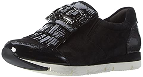 Kennel und Schmenger Schuhmanufaktur Damen Tiger Sneakers, Schwarz (Schwarz/Black Sohle Weiss), 39 EU