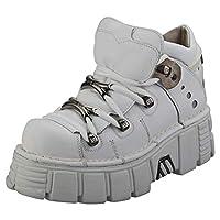 New Rock M106n-c27 Unisex Platform Shoes in White - 5.5 UK M - 5 UK W