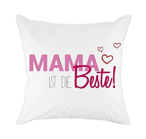 Redland Art MAMA IST DIE Bester! Zierkissenbezüge für Mama Papa Kinder Geschenk Baumwolle Polyester Kissen Abdeckung
