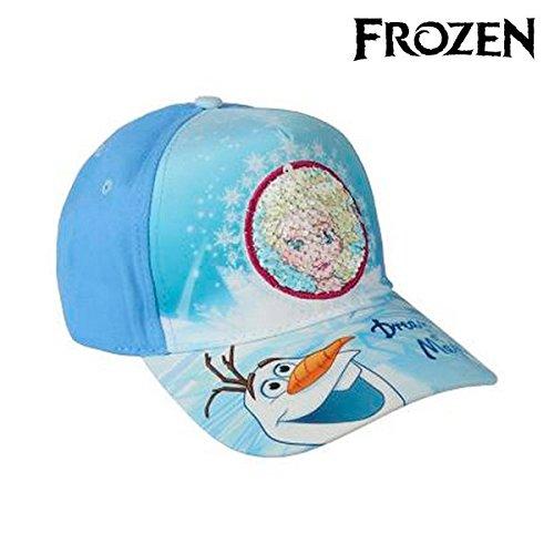 Cerdá Premium Frozen Gorra de Tenis, Niñas, Azul, 52-58 cm