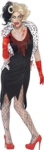 Smiffys, Damen Zombie-Böse Madame Kostüm, Kleid, Bolero, Halskette und Handschuhe, Größe: S, 44360