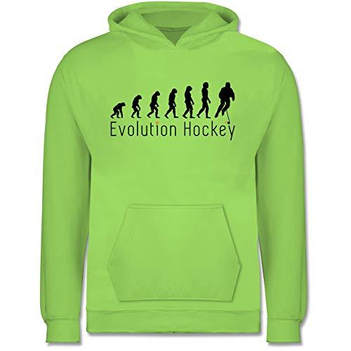 Shirtracer Evolution Kind - Evolution Hockey - 12/13 Jahre (152) - Limonengrün - JH001K - Kinder Hoodie