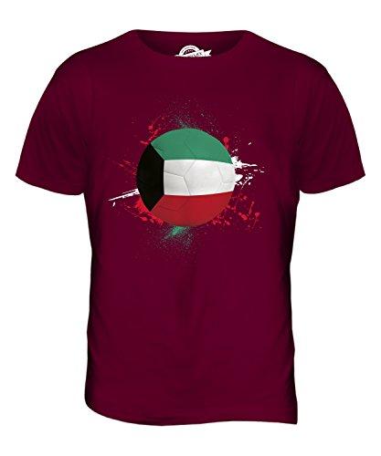 CandyMix Kuwait Fußball Herren T Shirt Burgunderrot