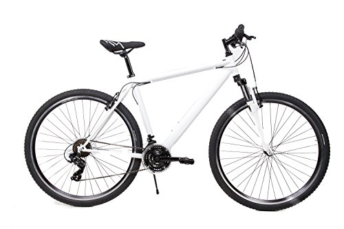 "SACHSENRING 28\"" Zoll MTB Cross Fahrrad Mountain Bike Shimano 21 Gang Weiss Matt"