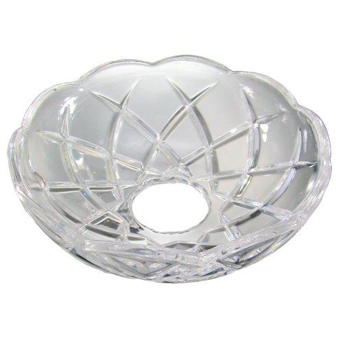 Chrom, Bleikristall (Lichtschale~ Bobeche Ø100mm Bleikristall mit 5 Seitenringe Chrom ~ Kronleuchter Lüster)