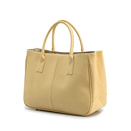 BaronHong Donne borse in pelle borsa borsa da cuoio borsa in gomma borsa cachi