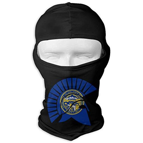 Jxrodekz Flagge von Nebraska Spartan Helm Motorrad Balaclava Vollgesichtsmaske Haube -