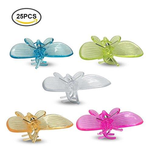 g2plus Lot de 25 clips orchidées clips clips papillon Plante de jardin Support cadeau idéal pour l'orchidée Grower