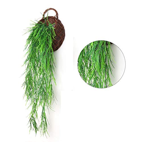 DXJYH Ivy, Künstliche Blätter, Künstliche Innen- Und Außen Grüne Blätter Weidenblättern, Gartenparty Hochzeitsdekoration (Color : Natural)