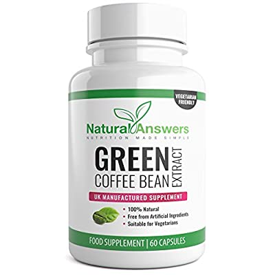 Green Coffee Bean Extract 1600mg High Strength 60 Capsules Active Cleanse Speed Metabolism. Fast Weight Loss for Women & Men. by Natural Answers