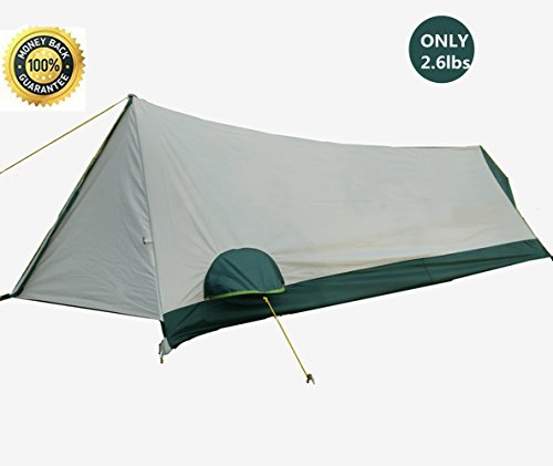 KAINI Ultralight Single Person Tentes, Tente de randonnée légère, 1 Person Personal Bivy Tente...
