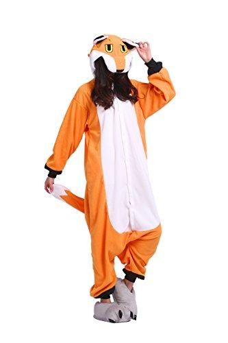 ie Tier Cartoon Cosplay Adult Kostüm Sleepsuit Pyjama Schlafanzug Halloween, Neuer Fuchs XL (Height:180-190cm) (Halloween-party-grenzen)
