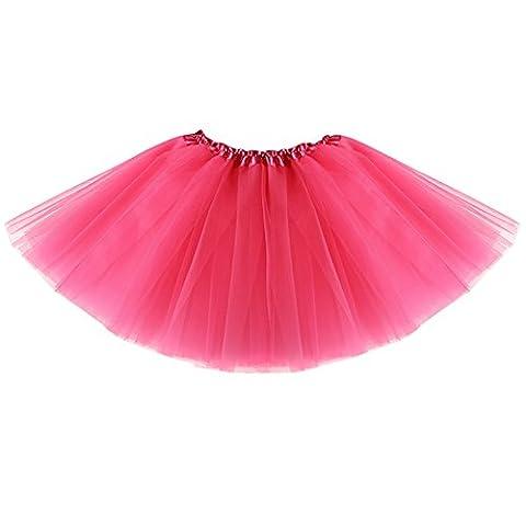 Tutu Filles Costumes - CHIC-CHIC Jupe Tutu Plissé Fille Jupon Princesse