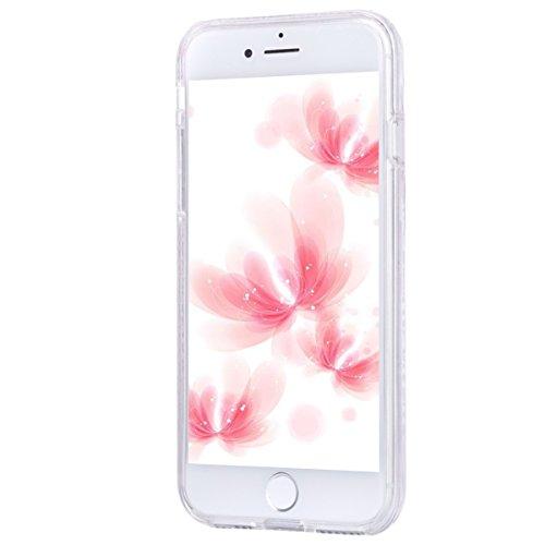 2017 Ekakashop iphone 7 4.7 pollici Custodia, 2-in-1 ultra sottile-Fit molle flessibile di caso Cover posteriore per iphone 7, Ragazza Ragazzo Crystal Clear Soft Cover gel TPU Silicone Protezione Sott B #9
