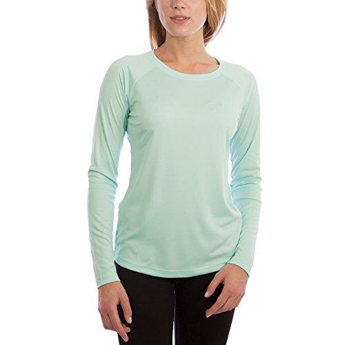 Vapor Apparel Damen UPF 50+ UV Sonnenschutz Langarm Performance T-Shirt X-S Seegras -