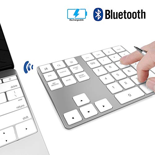 Ziffernblock Wireless JOYEKY Bluetooth-Numpad mit Multi-Funktion, Print Screen, Search, Rechneranwendung etc. für PC,Notebook kompatibel mit Windows, Android, iOS