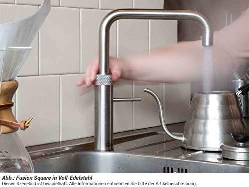 Quooker COMBI+ 2.2 Fusion Square Kochendwasserhahn / Kochendwasser-Armatur & Mischbatterie / verchromt glänzend CHR - 3