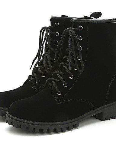 ShangYi Mode Frauen Schuhe Damen Stiefel Winter Combat Boots / Runder PU-Plattform and Lace-up Schwarz / Burgund Andere burgund j9J8I6