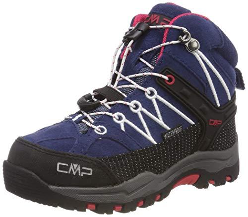 CMP Unisex-Kinder Rigel Mid Trekking- & Wanderstiefel, Blau (Marine-Corallo 36mc), 32 EU