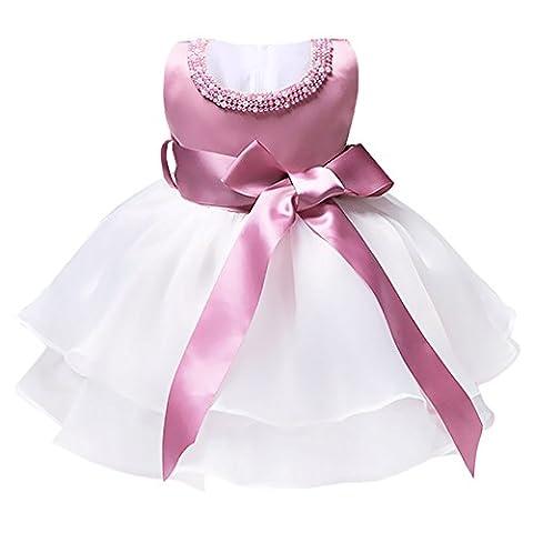 YiZYiF Baby Mädchen Kleid Taufkleid Festlich Kleid Hochzeit Party Kleinkind