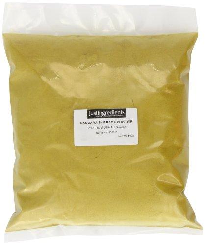 JustIngredients Cascara sagrada-Pulver, Cascara Sagrada Powder, 1er Pack (1 x 500 g)